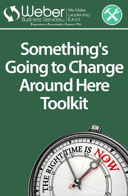 Something's Going to Change Around Here Toolkit