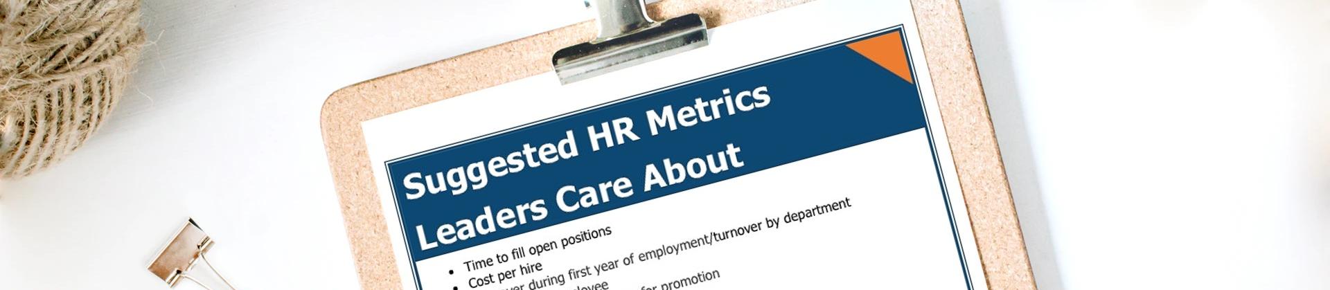 HR Metrics Web Header